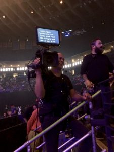 Large above the lens prompter