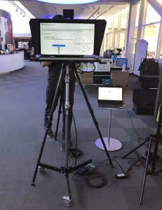 Large HD Display perfect for using a PowerPoint presentation