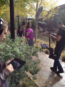 Wireless teleprompter for a walk and talk